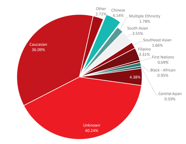 Ethnicity of Canadian patients awaiting stem cell translplants